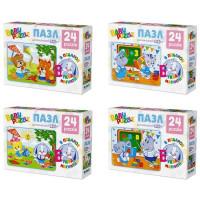 Пазл 24 Для малышей мини+магнитная буква 03438 Origami