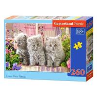 Пазл 260 Три серых котенка В2-27491 Castor Land