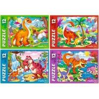 Пазл 12 Яркие динозавры П12-0620