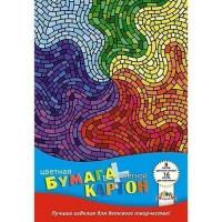 Набор картон цвет 8л + бумага цвет 16л. Цветная мозаика С1832-10