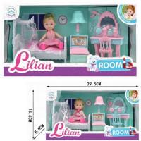 Кукла 86011 Lilian спальня с аксесс. в кор.