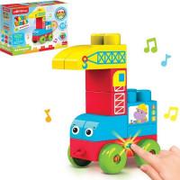 Игрушка музыкальная Автокран Talky Blocks кнопочка 4630027291752