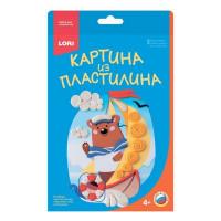 "Набор ДТ Картина из пластилина ""Мишка моряк"" Пз/Пл-011 Lori"