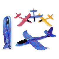 Самолет с подсветкой пенопластовый 50*48*6,5 см J 1143