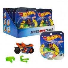 Hot Wheels Мотофристайл в компл.: инерц. мотобайк, 2 аксессуара для трюков Т16717