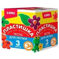 Набор ДТ Тесто для лепки №16 3 цв. по 70 гр. Тдл-019 Lori