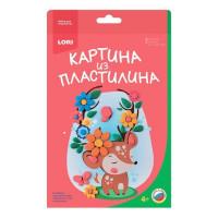 "Набор ДТ Картина из пластилина ""Оленёнок"" Пз/Пл-009 Lori"