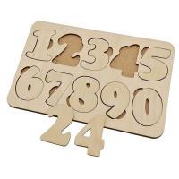 Дер. Обучающий набор Цифры 10 знаков планшет 20*14см 6101081