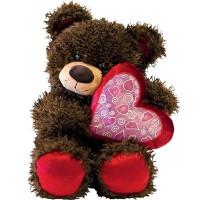 Медвежонок Чиба с сердцем 28 см МЧС01