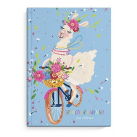Записная книжка для девочек 51573 Лама на велосипеде