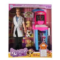 Кукла 520-ALY Кен ветеринар в кор.