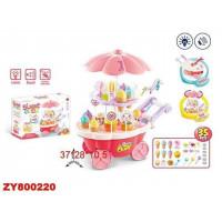 Игровой набор 668-53 Тележка с мороженым и конфетами, в кор.