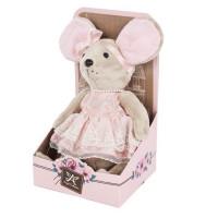 Мышка Lady mouse Зефирка  в розовом платье 681202