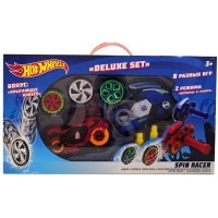 Hot Wheels Spin Racer Deluxe Set 2 пуск. механизма + 3 диска, с аксесс., 16 см Т19375