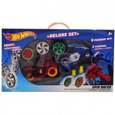 Hot Wheels Spin Racer Deluxe Set 2 пуск. механизма + 3 диска, с аксесс., 16 см Т19375