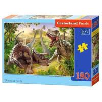 Пазл 180 Битва динозавров В1-018413 Castor Land