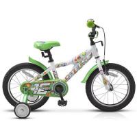 "Велосипед 2-х 16"" Pilot-180 бело-зеленый 15 /STELS/"