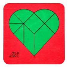 Дер. Головоломка Сердце ДИ2504