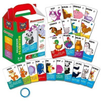 Игра наст. Карточки на кольце Животные VT5000-03