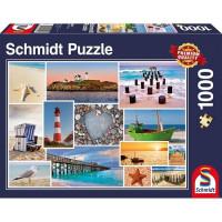 Пазл 1000 Коллаж На море 58221 Schmidt