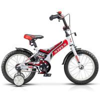 "Велосипед 2-х 16"" Jet белый/красный Z010 /STELS/"