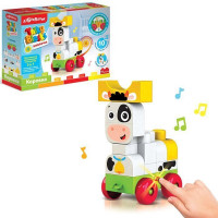 Игрушка музыкальная Коровка Talky Blocks кнопочка 4630027291677