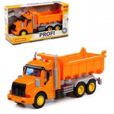 Автомобиль Профи самосвал инерционный со светом и звуком оранжевый в кор. 86297 П-Е /8/