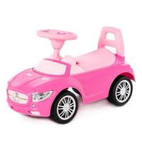 Каталка-автомобиль SuperCar №1 со звуковым сигналом розовая 84477 П-Е /1/