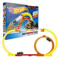 Hot Wheels Мотофристайл в компл.:инерц. мотобайк, 8 деталей трека, 1 аксессуар для трюков Т16720