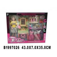 Кукла 300-37JX с платьями и аксесс. в кор.