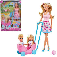 Кукла Штеффи, Еви и Тимми с питомцами 29 см 5733229