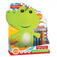 Набор для игры в ванной Веселый крокодил+мелки в ПОДАРОК Fisher Price Mattel 10019