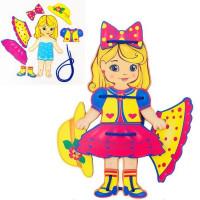 Дер. Шнуровка кукла 110110