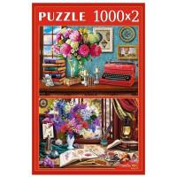 Пазл 2 в 1 1000+1000 Натюрморты у окна ХП1000-4317