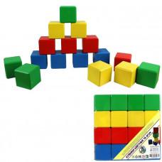 Дер. Кубики цветные 16шт. БП-00000195 / Арбо /