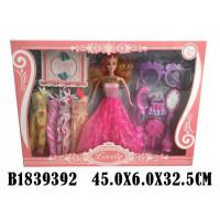 Кукла 1040YY с набором платьев и аксесс. в кор.