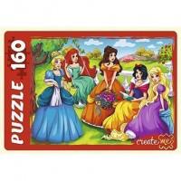 Пазл 160 Пять принцесс ПУ160-0634