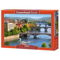 Пазл 500 Мосты Праги В-53087 Castor Land