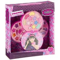Набор косметики Eva Moda Косметичка-диск с зеркальцем 77011 Bondibon
