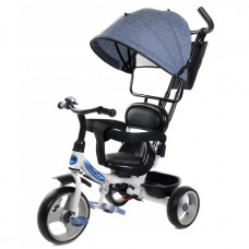 Велосипед 3-х PILOT PT1LB синий лен пластик. колеса 12/10