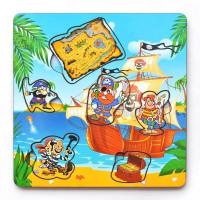 Дер. Рамка-вкладка Пираты с картой IG0023