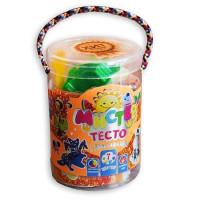 Набор ДТ Тесто для лепки Мистер тесто 7 цветов с глитером 71106